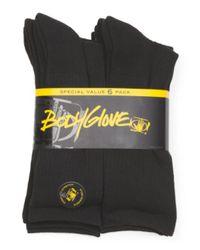 Tj Maxx - Black 6 Pack Solid Crew Socks for Men - Lyst