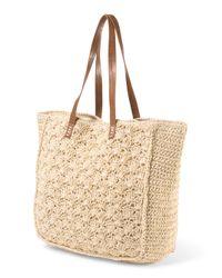Tj Maxx - Natural Crochet Straw Tote - Lyst
