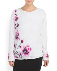 Tj Maxx - Multicolor All Over Sequin Floral Top - Lyst