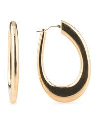 Tj Maxx - Metallic Made In Italy 14k Gold Polished Hoop Earrings - Lyst