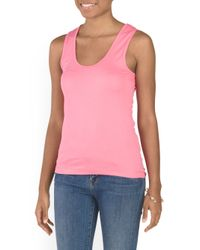 Tj Maxx - Pink Scoop Neck Tank - Lyst