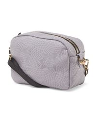 Tj Maxx - Gray Made In Italy Leather Camera Crossbody - Lyst