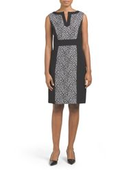 Tj Maxx - Black Two Toned Jacquard Print Dress - Lyst