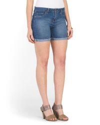 Tj Maxx - Blue Roll Fray Cuff Modern Fit Short - Lyst