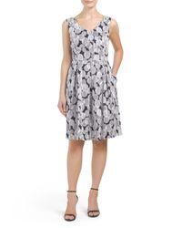 Tj Maxx - Gray Sleeveless Dress With Pleated Skirt - Lyst