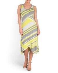 Tj Maxx - Yellow Sleeveless Midi Dress - Lyst