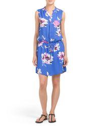 Tj Maxx - Blue Floral Printed Dress - Lyst