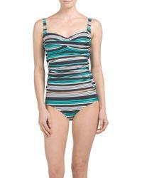 Tj Maxx - Blue Niptuck Maldive Stripe Tankini Swim Set - Lyst