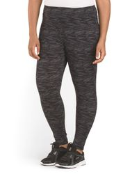 Tj Maxx - Black Plus Active Space Dye Legging - Lyst