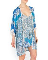 Tj Maxx - Blue Sleepwear Chiffon Robe - Lyst