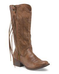 Tj Maxx - Brown Durant High Shaft Zip Up Boot - Lyst