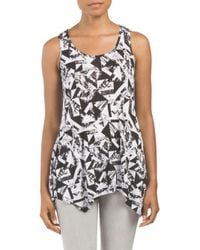 Tj Maxx - Multicolor Tank With Handkerchief Hem - Lyst