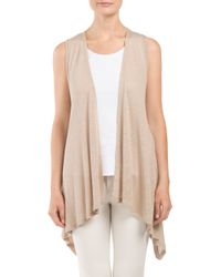 Tj Maxx - Natural Flyaway Vest With Novelty Back - Lyst