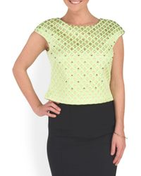 Tj Maxx - Green Embellished Day Occasion Crop Top - Lyst