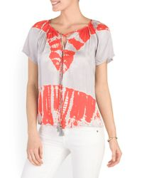 Tj Maxx - Red Tie Front Top - Lyst