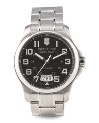 Tj Maxx - Metallic Men's Swiss Made Officers Gent Automatic Bracelet Watch for Men - Lyst
