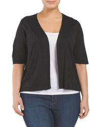 Tj Maxx - Black Plus Wave Stitched Cardigan - Lyst