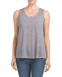 Tj Maxx - Blue Made In Usa Textured Stripe Top - Lyst