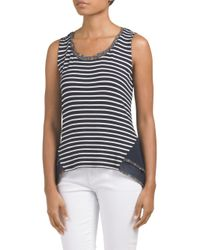 Tj Maxx - Blue Made In Usa Stripe Knit Top - Lyst