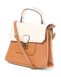 Tj Maxx - Brown Colorblock Mini Convertible Satchel - Lyst
