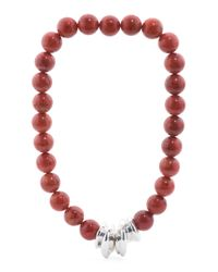 Tj Maxx - Made In Israel Sterling Silver Red Sponge Coral Necklace - Lyst