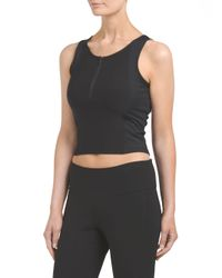 Tj Maxx - Black Mesh Inset Zip Crop Top - Lyst