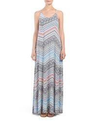 Tj Maxx - Multicolor Strappy Trapeze Maxi Dress - Lyst