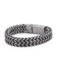 Tj Maxx - Metallic Men's Two Strand Curb Bracelet for Men - Lyst