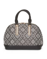 Tj Maxx - Black Sateen Dome Satchel - Lyst