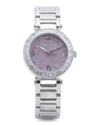 Tj Maxx - Metallic Women's Cali Glitter Dial Crystal Bezel Bracelet Watch - Lyst