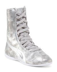 Tj Maxx - Gray Eskiva High Metallic Sneaker - Lyst