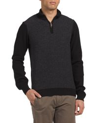 Tj Maxx - Black Made In Italy Wool Blend Pullover Sweater for Men - Lyst