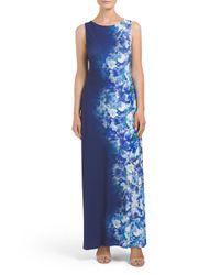 Tj Maxx - Blue Long Sleeveless Dress - Lyst