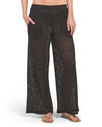 Tj Maxx - Black Crochet Wide Leg Cover-up Pant - Lyst