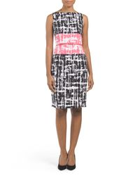 Tj Maxx - Black Brushed Twin Geo Sheath Dress - Lyst