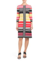Tj Maxx - Red Striped Shift Dress - Lyst