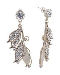 Tj Maxx - Metallic Made In Usa Crystal Vine Statement Earrings - Lyst