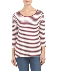 Tj Maxx - Red Striped Cross Back Top - Lyst