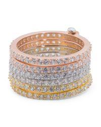 Tj Maxx - Multicolor Tricolor Sterling Silver Eternity Interlocking Rings - Lyst