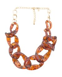 Tj Maxx - Multicolor Tortoise Shell Print Graduated Link Necklace - Lyst