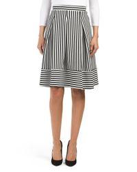 Tj Maxx - Black Stripe Midi Skirt - Lyst