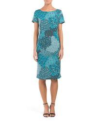 Tj Maxx - Blue Printed Shift Dress - Lyst