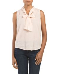 Tj Maxx - Pink Sleeveless Tie Top - Lyst