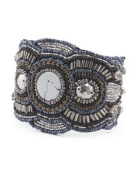 Tj Maxx - Metallic Made In India Beaded Cuff Bracelet - Lyst