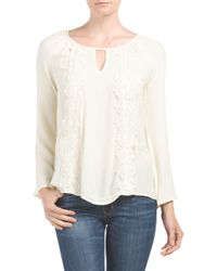 Tj Maxx - White Embroidered Floral Top - Lyst