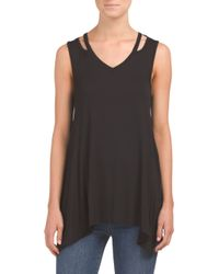 Tj Maxx - Black Cut Out Shoulder Tank - Lyst