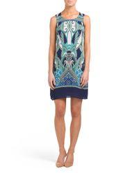 Tj Maxx - Blue Vibrant Paisley Printed Shift Dress - Lyst