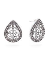 Tj Maxx - Metallic Handcrafted In Turkey Sterling Silver Filigree Pear Earrings - Lyst