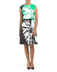Tj Maxx - Black Floral Printed Scuba Dress - Lyst