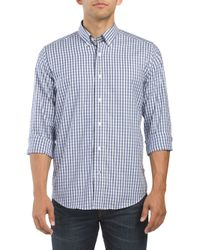 Tj Maxx - Blue Small Gingham Button Down Shirt for Men - Lyst